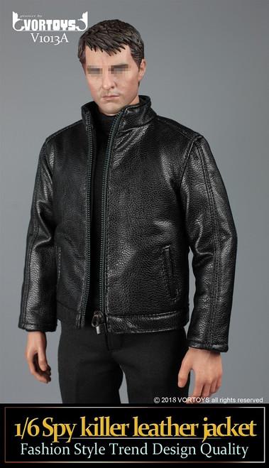[VOR-1013A] Black Spy Killer 1/6 Figure Leather Jacket by VORTOYS