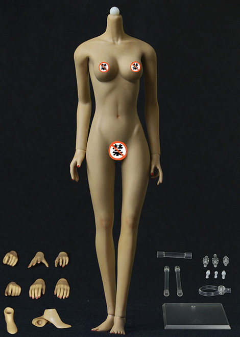 [JOQ-10C-BM] Jiaou Doll Middle Bust Seamless Female Body in Brown Skin