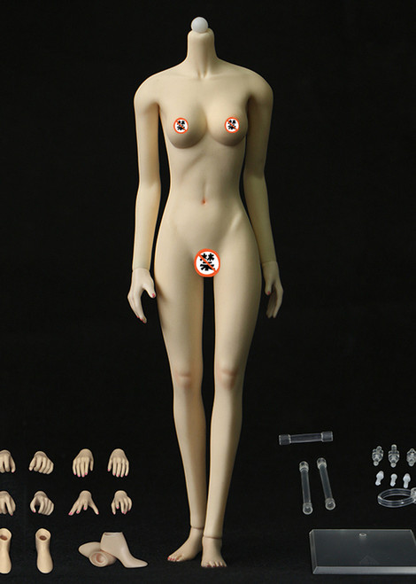 [JOQ-10C-WS] Jiaou Doll Middle Bust Seamless Female Body in White Skin