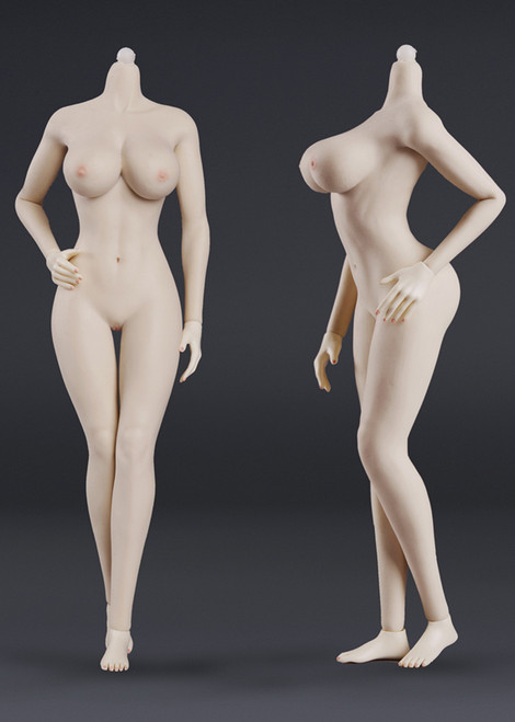 [JOQ-10E-WS] Seamless Female Action Figure in Pale Skin Big Bust by Jiaou Doll