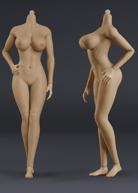 [JOQ-10E-BM] Seamless Female Action Figure in Brown Skin Big Bust by Jiaou Doll