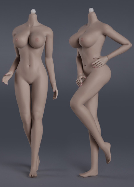 [JOQ-09F-BS01] Seamless Female Action Figure in Suntan Skin Big Bust by Jiaou Doll
