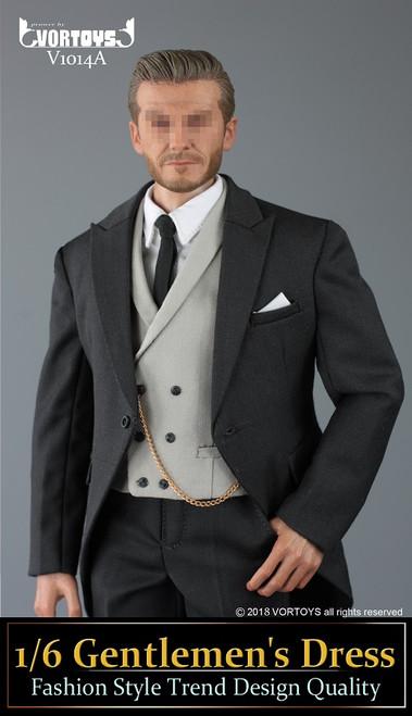 [VOR-1014A] 1/6 Dark Grey Action Figure Morning Coats by VORTOYS
