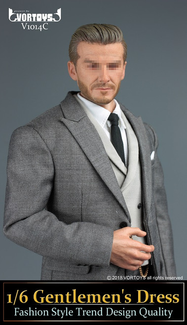 [VOR-1014C] 1/6 Grey Action Figure Morning Coats by VORTOYS