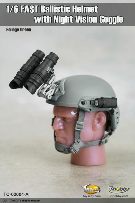 [TC-62004] TOYSCITY 1/6 FAST Ballistic Helmet Set - with Night Vision Goggle