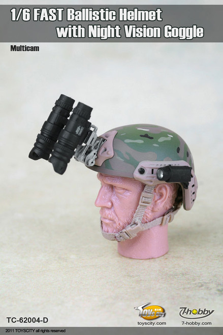 1//6 Scale toy Foliage Green FAST Carbon Helmet with NVG