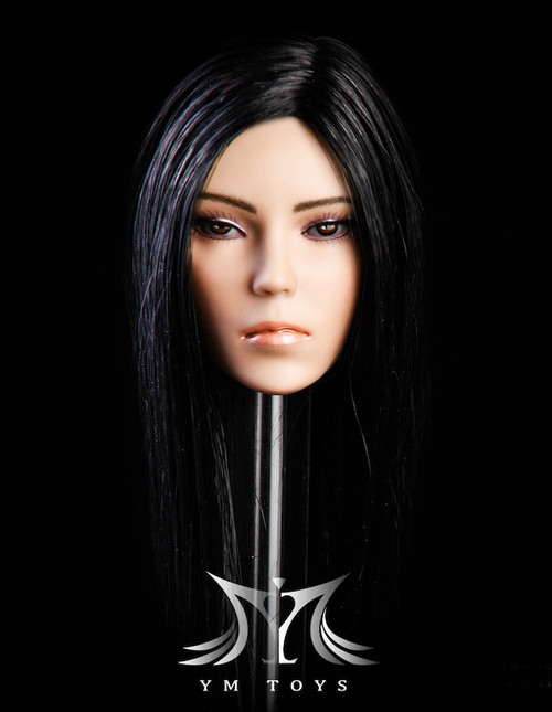 [YMT-14B] 1/6 Female Head with Black Hair by YM Toys
