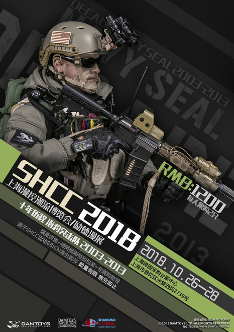 [DAM-78060] SHCC Exclusive Decade NAVY Seal 2003-2013 1/6 Boxed Figure