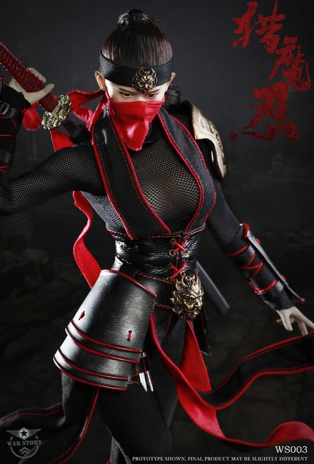[WS-003] 1:6 Demon Female Ninja Boxed Figure by War Story