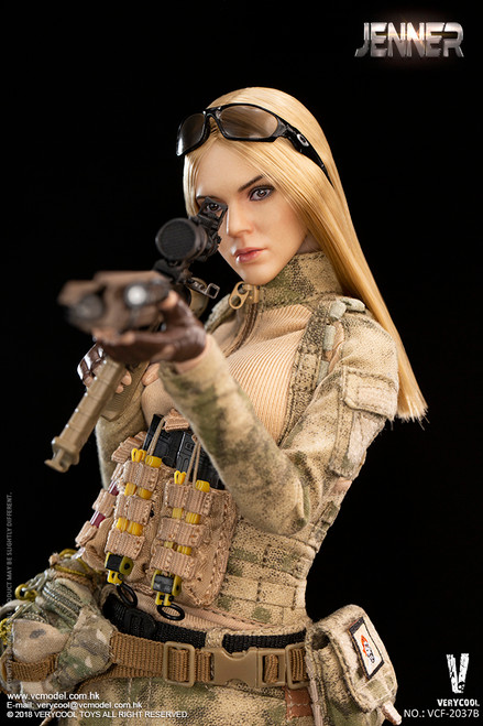 [VCF-2037B] A-TACS FG Double 1/6 Women Soldier JENNER B Style by Very Cool