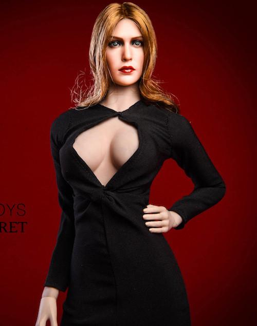 [VST-18XG31A] 1/6 Elizabeth KeyHole Black Gown by VS Toys