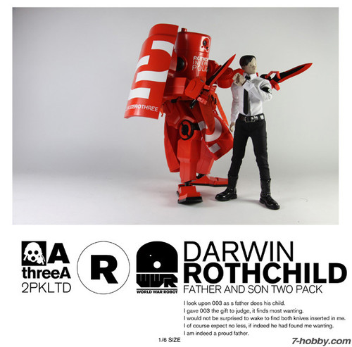 THREEA WWR 1/6 Darwin Rothchild - Father and Son Two Pack