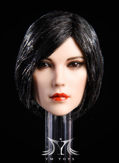 [YMT-17A] 1/6 Female Head with Black Short Hair by YM Toys