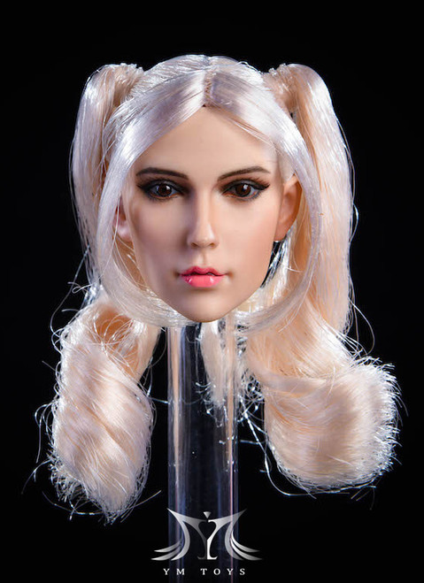 [YMT-18A] 1/6 Female Head with Silver Hair by YM Toys