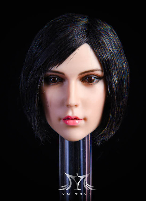 [YMT-18B] 1/6 Female Head with Black Hair by YM Toys