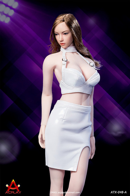 [AP-ATX048A] 1/6 Sexy Lady White Leather Skirt by ACPLAY