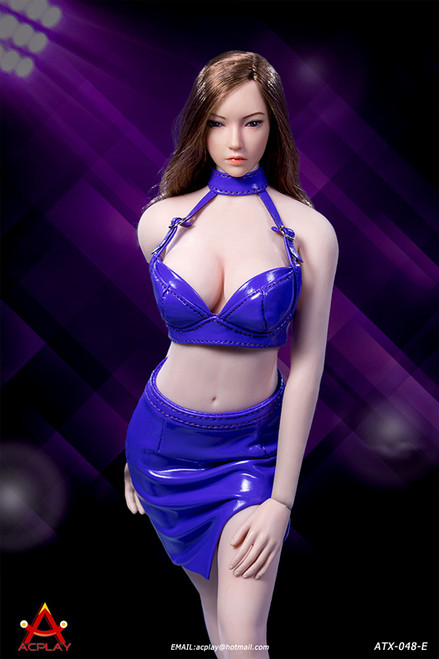[AP-ATX048E] 1/6 Sexy Lady Purple Leather Skirt by ACPLAY