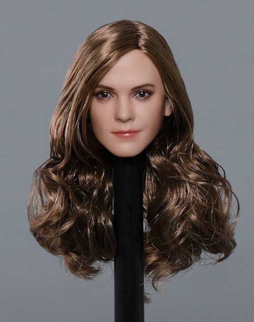 [GAC-1820A] 1:6 Caucasian Women's Head Sculpt with Long Curly Hair by GACTOYS