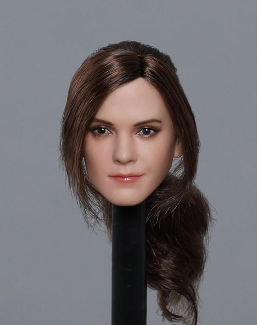 [GAC-1820B] 1:6 Caucasian Women's Head Sculpt with Ponytail Hair by GACTOYS