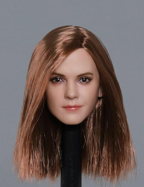 [GAC-1820C] 1:6 Caucasian Women's Head Sculpt with Brown Hair by GACTOYS