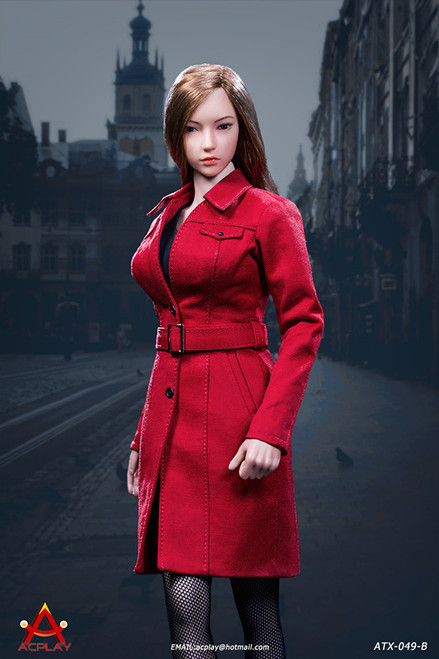 [AP-ATX049B] 1/6 Female Trench Coat in Red by ACPLAY