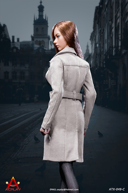 [AP-ATX049C] 1/6 Female Trench Coat in Grey by ACPLAY