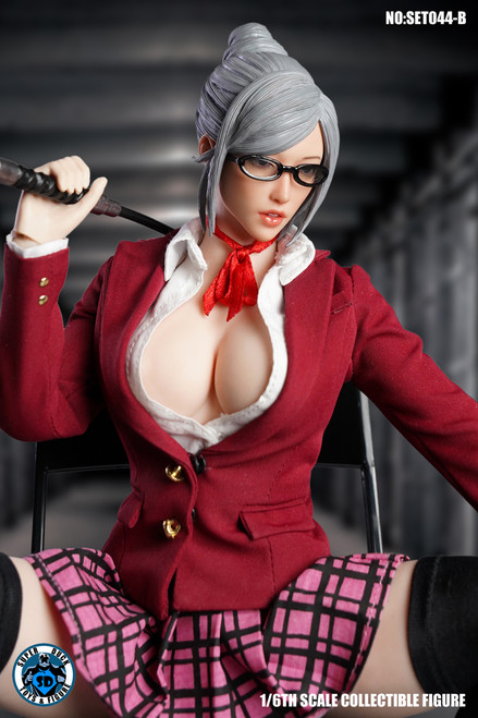 [SUD-SET044B] 1/6 Red Prison School Uniform by Super Duck for Phicen S20A