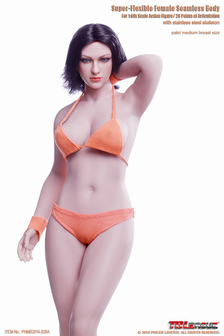[PL-MB2019-S28A] 1/6 Pale Buxom Women Female Super-Flexible Seamless Body by TBLeague Phicen