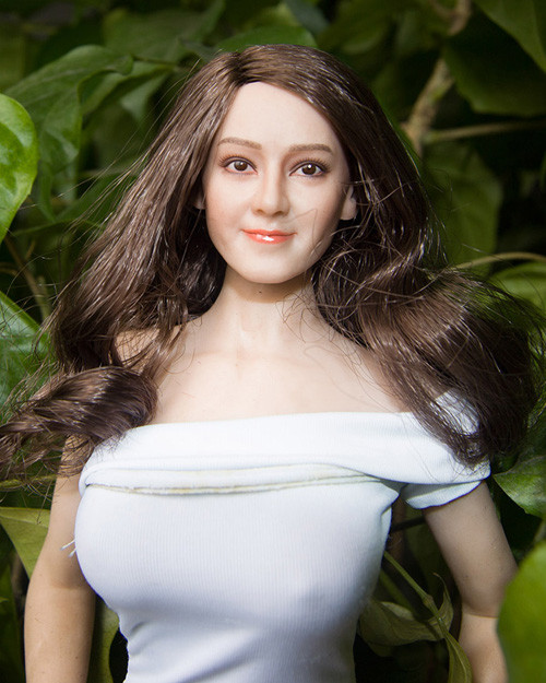 [MIS-H051C] 1/6 Custom Dilraba Actress Brown Hair Head