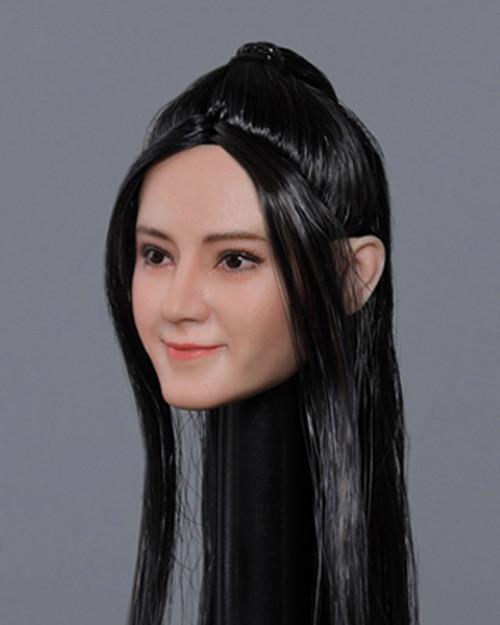 [MIS-H051E] 1/6 Custom Dilraba Actress Fishtail Hair Head