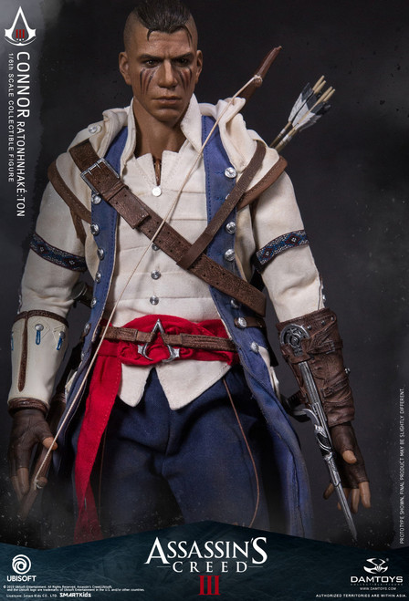 [DMS010] Ubisoft 1/6 Assassin's Creed III Connor Ratonhnhaké:ton Figure by Dam Toys