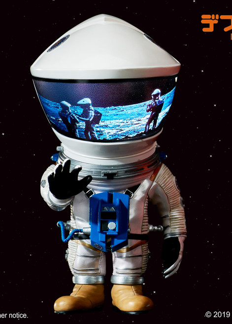 """[SA-6011] 6"""" Tall 2001: A Space Odyssey 1968 Sliver Discovery Astronaut Soft Vinyl Statue By Star Ace"""