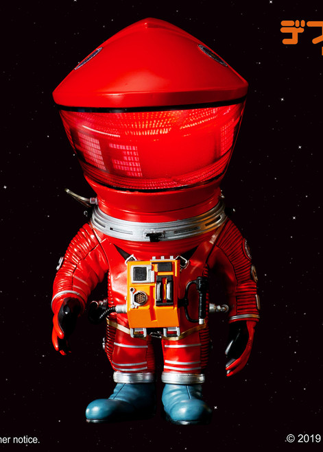 """[SA-6013] 6"""" Tall 2001: A Space Odyssey 1968 Red Discovery Astronaut Soft Vinyl Statue By Star Ace"""