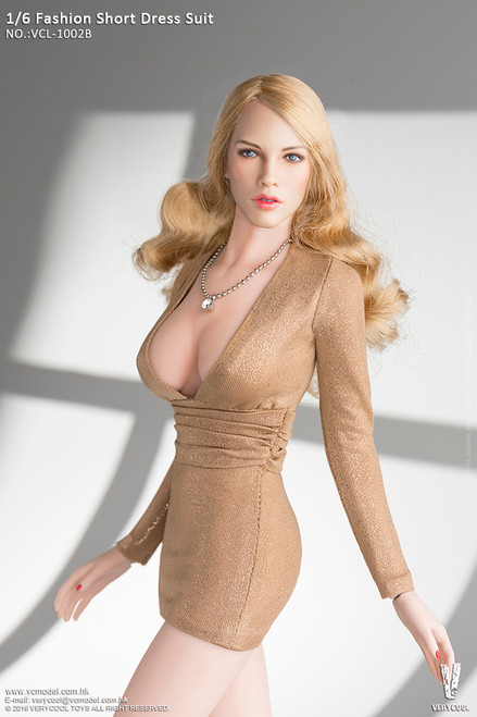 [VCL-1002B] 1/6 Champagne Fashion Short Dress Suit Mini Skirt by Very Cool