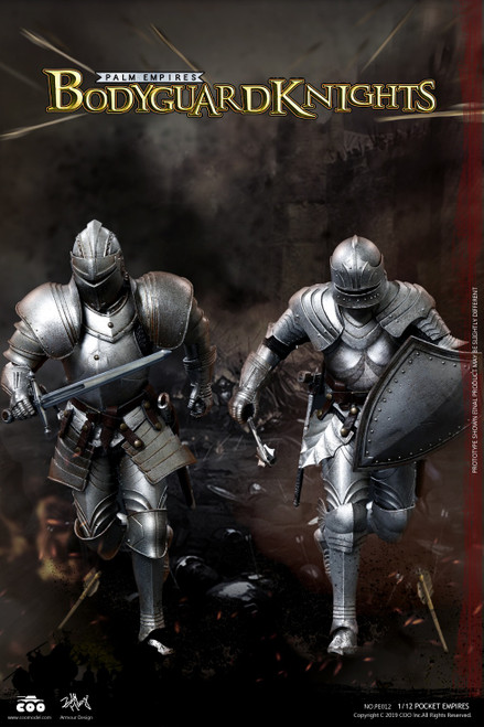 [CM-PE012] 1:12 Pocket Empires Bodyguard Knight Double Figure Set by COO Model