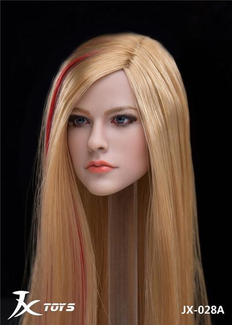 [JXT-028A] 1/6 Custom Female Head with Long Hair by JXtoys