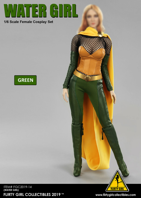 [FGC-2019-14] 1/6 Green Water Girl Cosplay Clothing Set Version 2.0 by Flirty Girl's