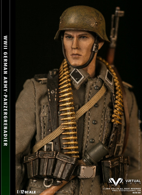 [VG001] WWII German Army Panzergrgrenadier 1:12 Action Figure by Virtual VTS Toys