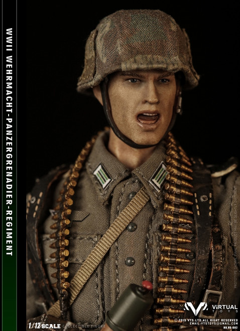 [VG002] WWII Wehrmacht Panzergrgrenadier Regiment 1:12 Action Figure by Virtual VTS Toys