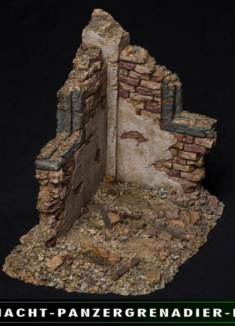 [VG003] 1:12 Simulated War Ruins Scene Platform by Virtual VTS Toys