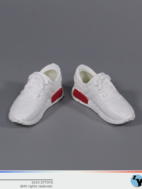 [ZY-1017B] 1/6 Female White Running Sneakers by ZY TOYS