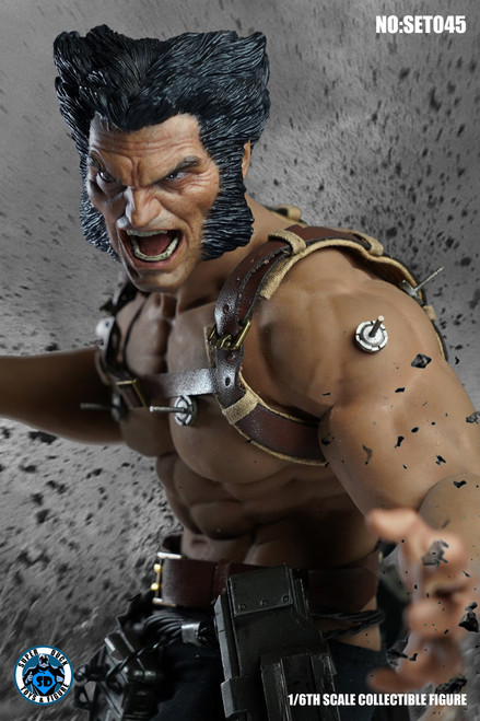 [SUD-SET045] 1/6 Angry Wolfman and Head Set by Super Duck for Phicen M35 Body