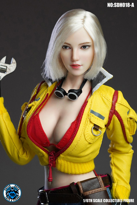 [SUD-SDH018A] 1/6 Caucasian Headsculpt with Sliver Hair by Super Duck