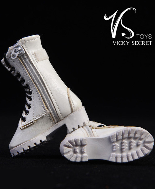 [VST-19XG43C] 1/6 Figure Zipper Boots in White by VS Toys