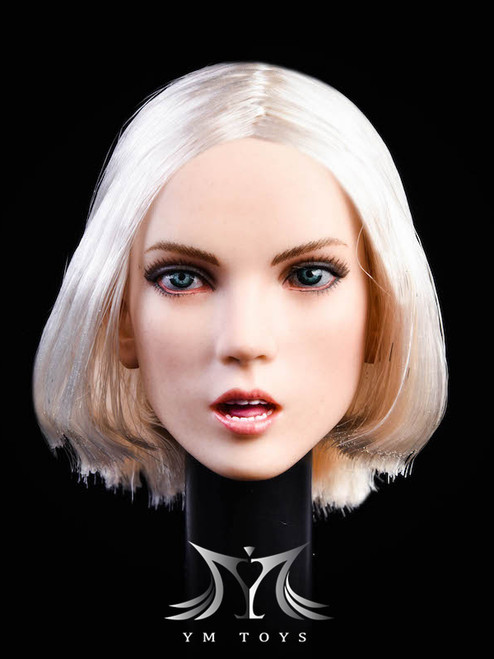 [YMT-025C] 1/6 Female Head with Blonde Hair by YM Toys