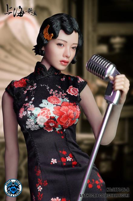 [SUD-SET046B] 1/6 Shanghai Sing-song Girl in Black Cheongsam by Super Duck for Phicen S09C Body