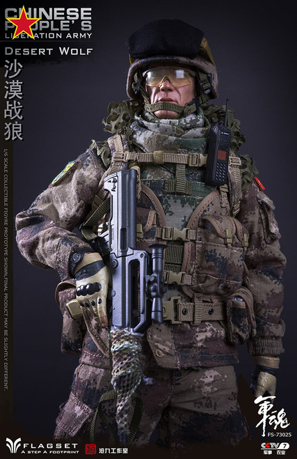 [FS-73025] 1/6 Chinese People's Liberation Army Desert Wolf Figure by FLAGSET