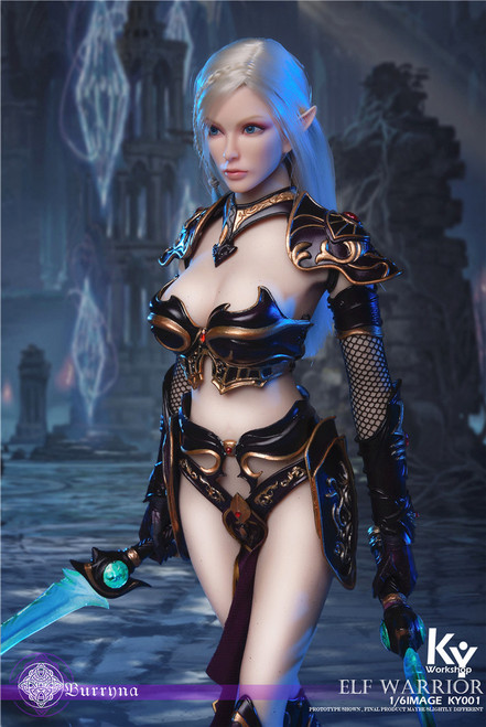 [KY-001B] 1/6 Black Elf Female Soldier Burryna Normal Edition Figure by KY Workshop