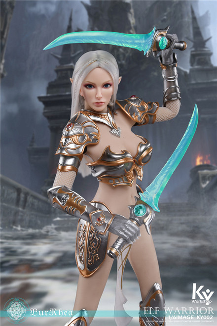[KY-002A] 1/6 Silver Elf Female Soldier Burryna Deluxe Edition Figure by KY Workshop