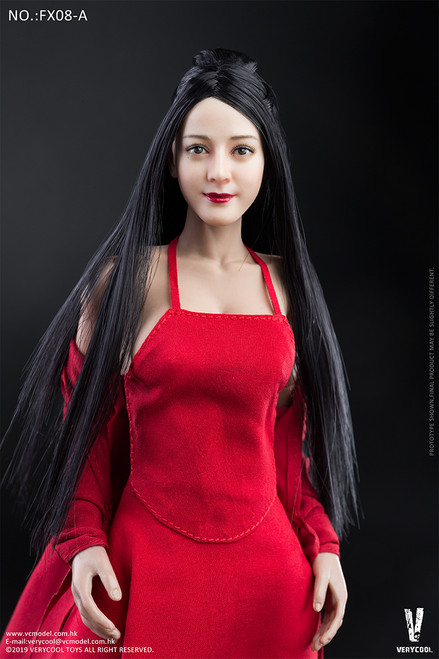 [VCF-FX08A] Asian Antique Hairstyle Head Sculpture + 3.0 Female Body Set by Very Cool